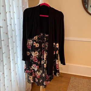 Kim & Cami FlyAway Duster in Large EUC ! Worn once